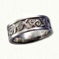 Custom African Wedding Band