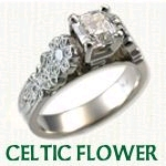 Celtic Flower Engagement Ring