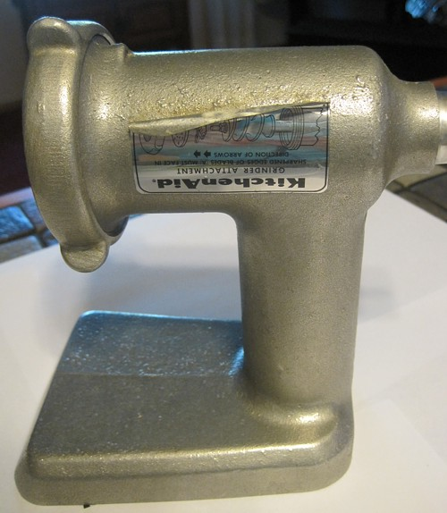 Vtg Metal Hobart Kitchenaid Meat Grinder Attachment Housing Screw Ring Ebay