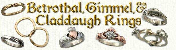 Betrothal Gimmel Claddaugh Rings By Designet International