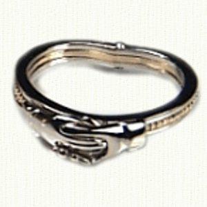 Betrothal Gimmel Claddagh Rings