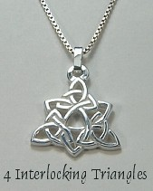 4 Interlocking Triangles Pendant