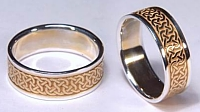 Castlebar Knot wedding rings