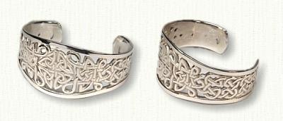 Pierced Celtic Love Knot Cuff Bracelet
