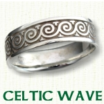 Celtic Wave Knot Wedding Rings