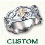 Custom designed Celtic Knot Wedding Rings