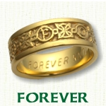 Forever Knot Celtic Wedding Rings