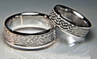 Celtic Galway Wave Wedding Bands