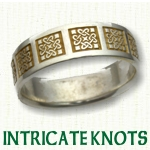 Intricate Celtic Knot Wedding Rings