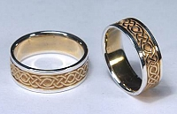 Longford Knot Wedding Bands