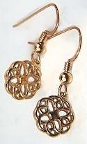 custom michelle knot earrings