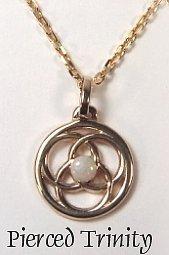 Pierced Trinity pendant