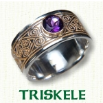Triskele Knot Celtic Wedding Bands