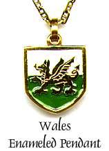 Wales Enameled Pendant