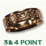 3 & 4 Point Knot Celtic Wedding Bands
