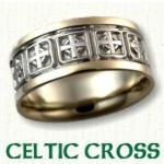 Celtic Cross Knot Wedding Rings