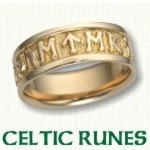 Celtic Runes Wedding Bands