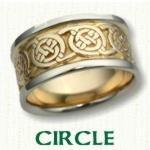 Circle Knot Celtic Wedding Bands