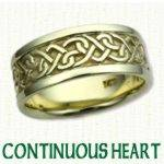 continuous Heart Knot Celtic Wedding Rings