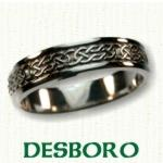 Desboro Knot Celtic Wedding Rings