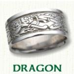 Dragon Knot Celtic Wedding Bands