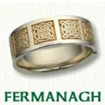 Fermanagh Knot Celtic Wedding Rings