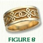 Figure 8 Knot Celtic Wedding Bands