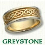 Greystone Knot Celtic Wedding Rings