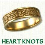 Heart Knot Celtic Wedding Rings