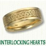 Heart Knot Celtic Wedding Bands