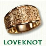 Tapered Love Knot Celtic Wedding Bands
