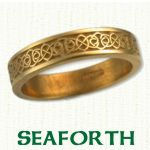Seaforth Knot Celtic Wedding Bands