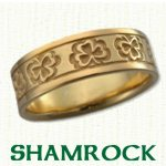 Shamrock Knot Celtic Wedding Rings
