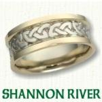 Shannon River Knot Celtic Wedding Rings