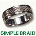 Simple Braid Knot Celtic Wedding Rings