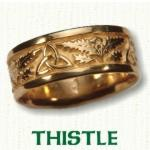 Thistle Knot Celtic Wedding Bands