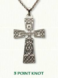 Celtic three point knot Cross