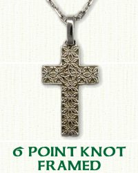 6 Point Knot Cross Framed