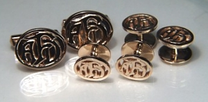Oval two tone cuff links, CUFF LINKS