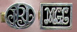 monogram cuff links, CUFF LINKS