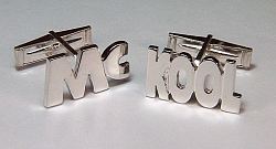 Sterling silver Mc Kool custom cuff links