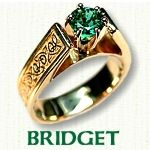 Celtic Bridget engagement rings