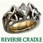 Reverse Cradle Engagement Ring - Celtic