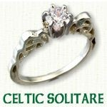 Celtic Solitare Engagement Ring