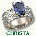 Christa Engagement Ring - celtic