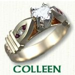 Colleen Engagement Ring - Celtic Claddagh style