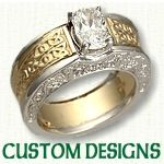 Custom Celtic Engagement Rings