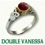 Double Vaness Engagement Ring - Celtic