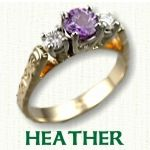 Heather engagement ring - Celtic