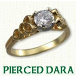Pierced Dragon engagement rings